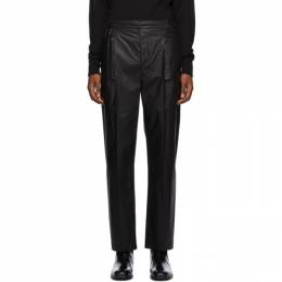 Lemaire Black Pleated Drawstring Trousers M 203 PA146 LF146