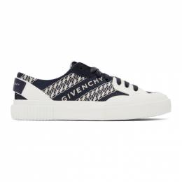 Givenchy Navy Chain Tennis Light Sneakers BH001TH0QM