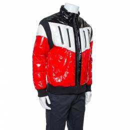 Balmain Tricolor Quilted Puffer Jacket XXL 339950