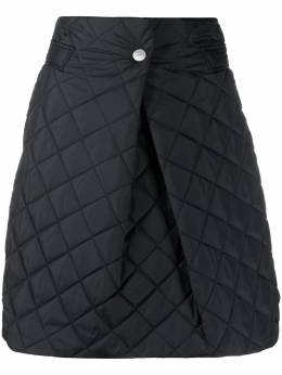 Ganni quilted mini skirt F5237