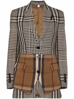 Burberry basque-detail single-breasted blazer 4566100