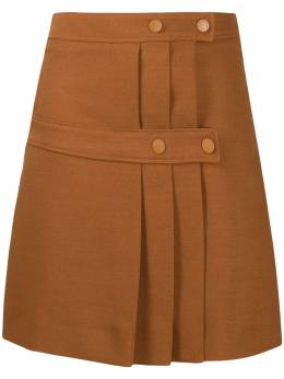 See by Chloe double-panelled pleat skirt CHS20WJU02026