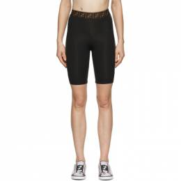 Fendi Black Fendirama Cycling Shorts FAB201 ADH7