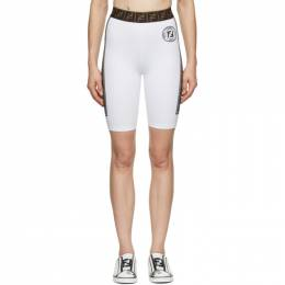 Fendi White Fendirama Cycling Shorts FAB201 ADH7 F0ZNM