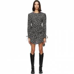 Isabel Marant Black and White Inotilia Dress 20HRO1855-20H042I