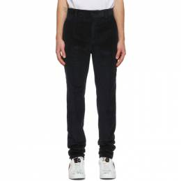 Dolce and Gabbana Blue Corduroy Trousers GWZ4HT FUVLI