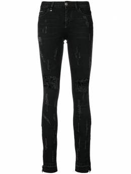 Philipp Plein ribbed skinny jeans WDT0717PDE004N