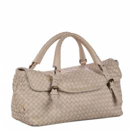 Bottega Veneta Brown Leather Intrecciato Hobo Bag 338705