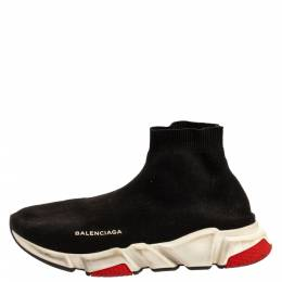 Balenciaga Black Knit Speed High Top Sock Sneakers Size 43 348628