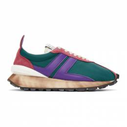 Lanvin SSENSE Exclusive Green and Purple Bumper Sneakers FM-SKBRUN-NYLO-H20