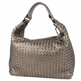 Bottega Veneta Brown Intrecciato Leather Hobo Bag 347607