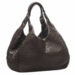 Bottega Veneta Brown Intrecciato Campana Hobo Bag 347679