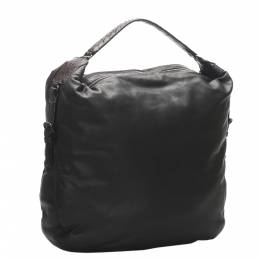 Bottega Veneta Black Intrecciato Leather Hobo Bag 347678