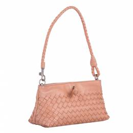 Bottega Veneta Beige Intrecciato Leather Bag 338838