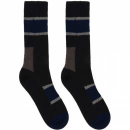Sacai Navy Horizontal Stripe Socks 20-0122S
