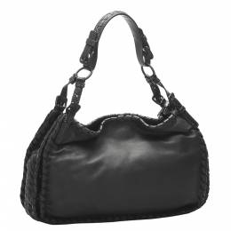 Bottega Veneta Black Leather Intrecciato bag 347834