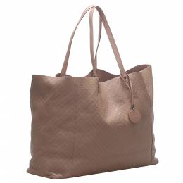 Bottega Veneta Brown Intrecciato Butterfly Leather Tote Bag 347677