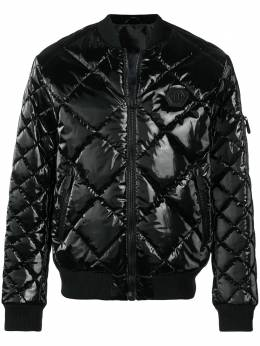 Philipp Plein quilted bomber jacket MRB0727PNY002N