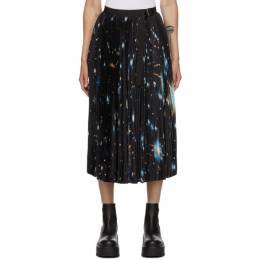 Sacai Multicolor Star Print Pleated Skirt 20-05286