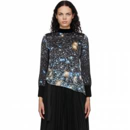 Sacai Black Star Print Blouse 20-05288
