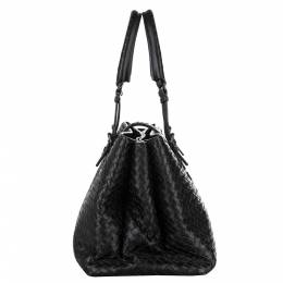 Bottega Veneta Black Leather Roma Large Bag 347707