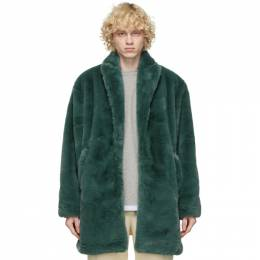 Green Faux-Fur Coat Clot CLJK20FW4006