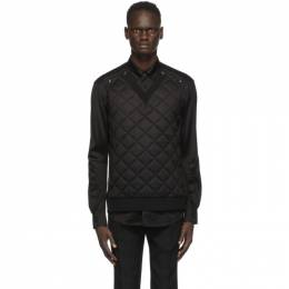 Burberry Black Quilted Silk Shirt 4565110