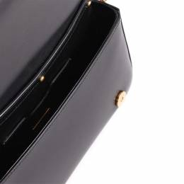 Dolce and Gabbana Black Leather Dg Girls Clutch Bag 351209