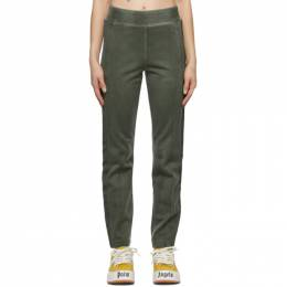 Palm Angels Green Garment-Dyed Track Pants PMCA084F20FAB0035757