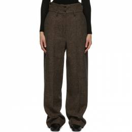 Lemaire Brown Wool High Waisted Trousers W 204 PA291 LF531