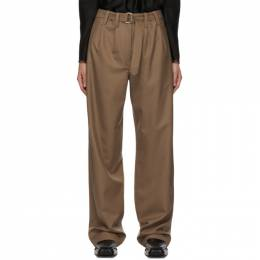 Lemaire Brown Loose Trousers W 203 PA289 LF414