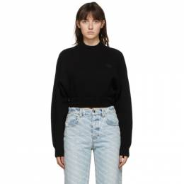 T by Alexander Wang Black Wool Cropped Sweater 4KC2201009