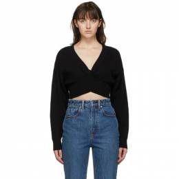 T by Alexander Wang Black Wool Twist Sweater 4KC2201007