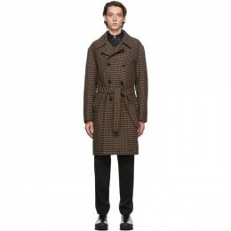 Mackintosh Brown Wool Double-Breasted Darvel Coat MOP5369C