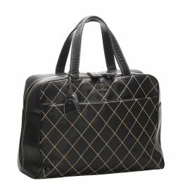 Chanel Black Quilted Leather Surpique Bag 353023