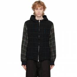 Undercover Black Wool Checkered Hood Jacket UCZ4211-2