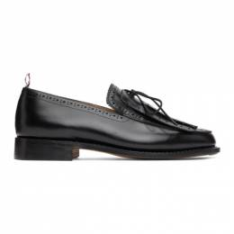 Thom Browne Black Perforated Kilted Loafers MFD189A-06764