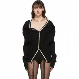 Y / Project SSENSE Exclusive Black Ruffle Necklace Cardigan WMCARDIGAN2-S19 Y01 WMCARDIGAN2-S19 Y01