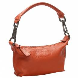 Mulberry Orange Leather Shoulder Bag 358850