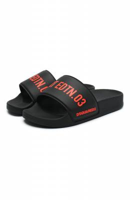 Шлепанцы Dsquared2 66943/PVC/SCRITTE/18-27