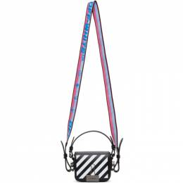 Off-White Black and White Baby Diag Flap Bag OWNA087R21LEA0011001