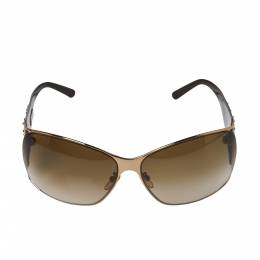 Givenchy Brown Floral Crystal Embellished/Brown Gradient SGV 364S Limited Edition Oversized Sunglasses 367310