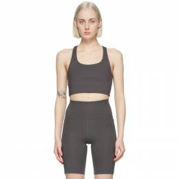 Grey Paloma Sports Bra 1002-AS Girlfriend Collective