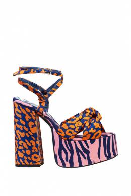 Босоножки Jeffrey Campbell SEVENTY ORANGE BLUE