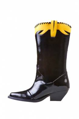 Сапоги-Казаки Jeffrey Campbell KLLR-COBRA-184 BLACK YELLOW