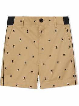 Burberry Kids TEEN star & monogram-print tailored shorts 8036906