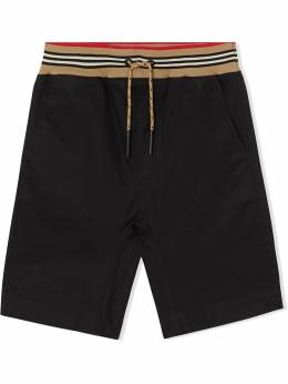 Burberry Kids TEEN Icon Stripe detail shorts 8036432
