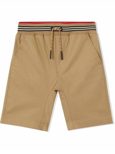 Burberry Kids TEEN Icon Stripe detail shorts 8036431 - 1