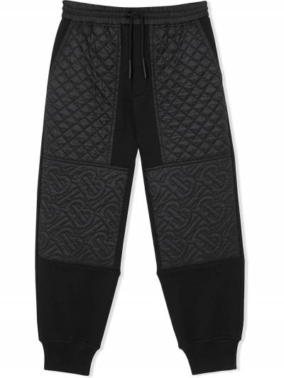 Burberry Kids TEEN quilted track pants 8037458 - 1