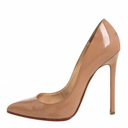 Christian Louboutin Beige Patent Leather So Kate Pumps Size 38.5 372976